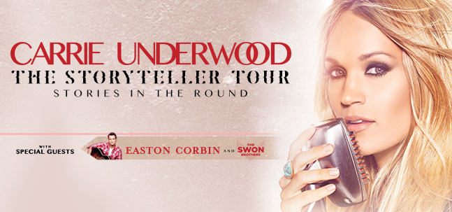 Carrie Underwood w/ Easton Corbin & The Swon Brothers
